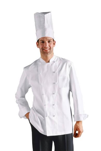 Chef-Kochjacke Extra-Lang Brusttasche