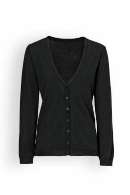 Damen-Cardigan Schwarz V-Ausschnitt